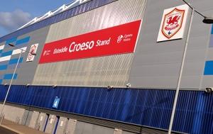 Croeso Stand, Cardiff City Stadium. Bilde: Jon Candy