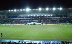 Grandstand, Cardiff City Stadium. Bilde: Jon Candy